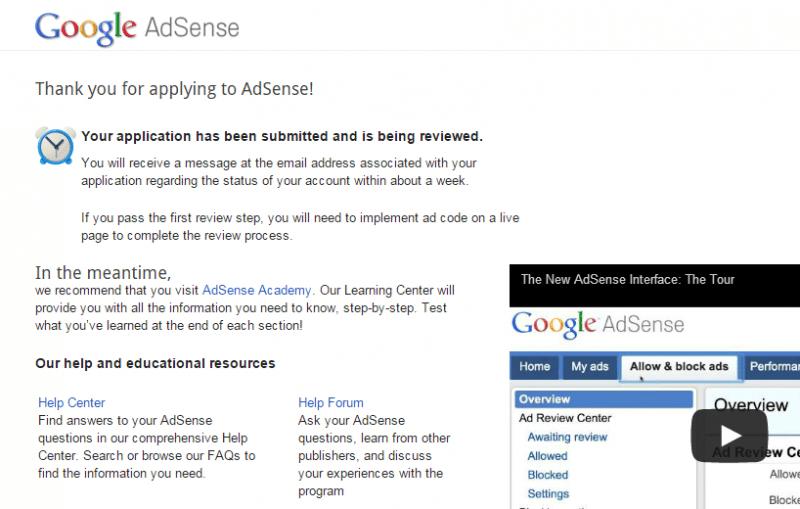 Daftar AdSense langkah-4