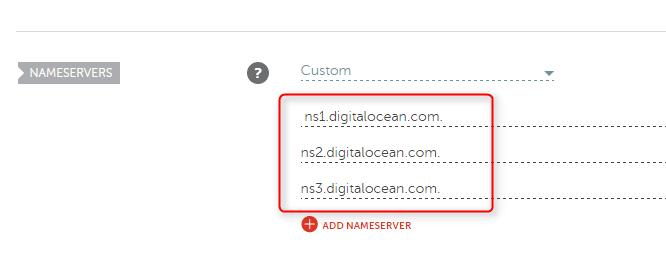 Nameserver DigitalOcean Namecheap